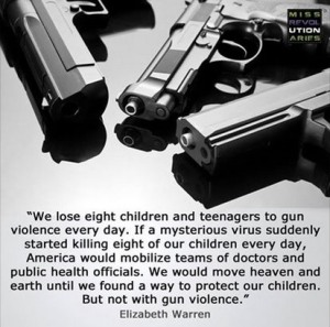 Gun deaths children Elizabeath Warren